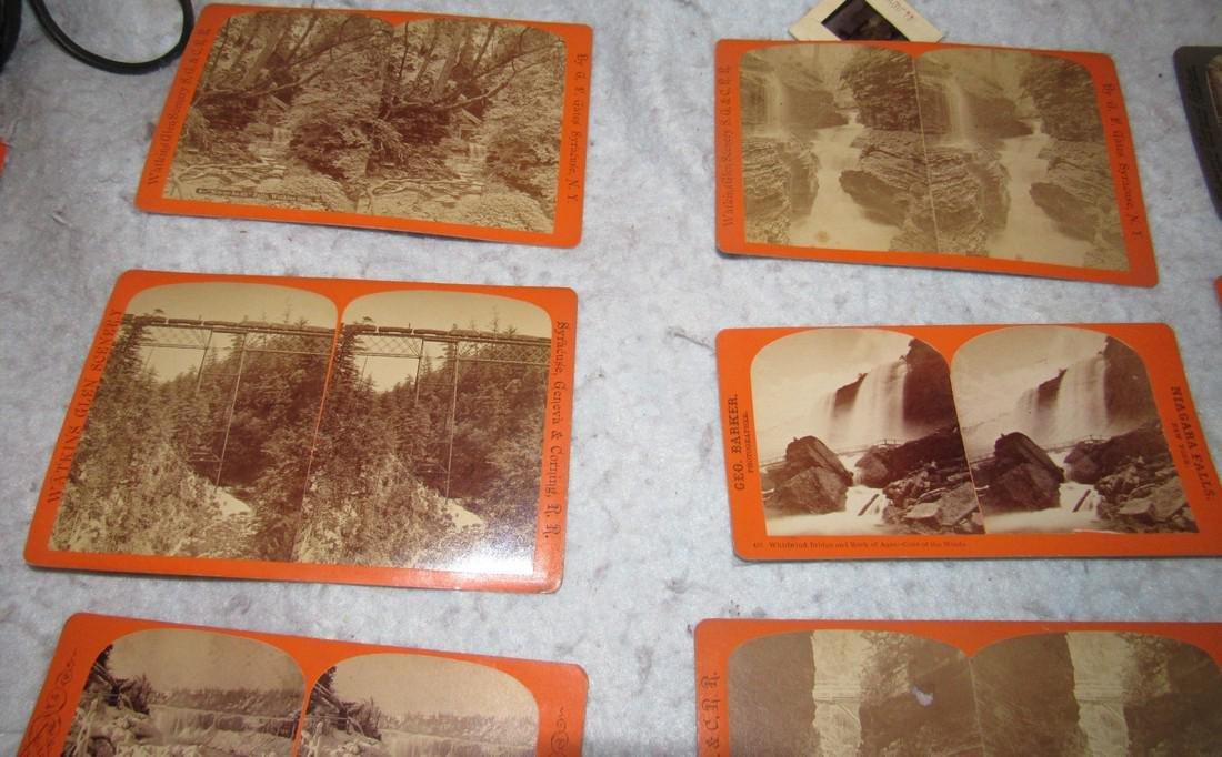 Niagra Falls Watkins Glen NY Stereo View Cards - 4