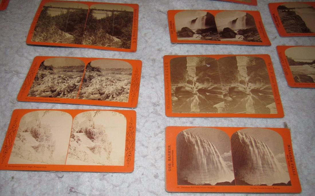 Niagra Falls Watkins Glen NY Stereo View Cards - 5