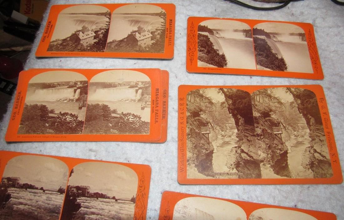 Niagra Falls Watkins Glen NY Stereo View Cards - 6