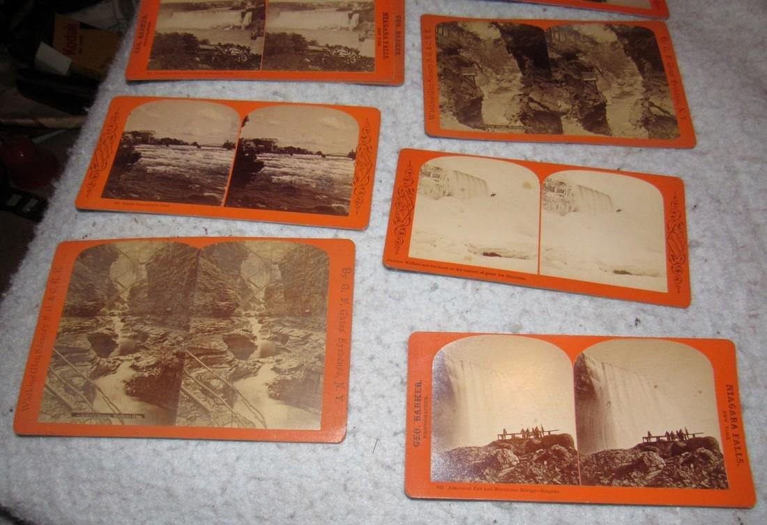 Niagra Falls Watkins Glen NY Stereo View Cards - 7