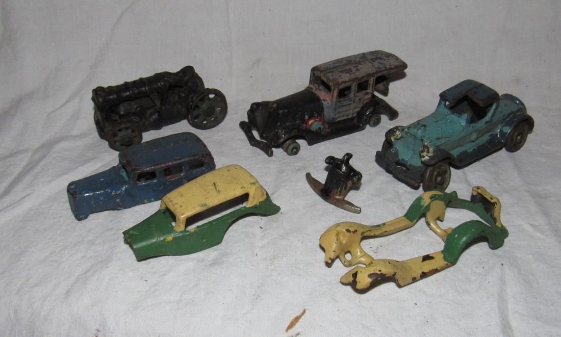 Antique Cast Iron Toy Junk Yard Car Parts