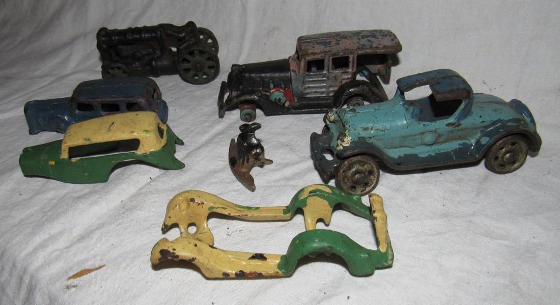 Antique Cast Iron Toy Junk Yard Car Parts - 2