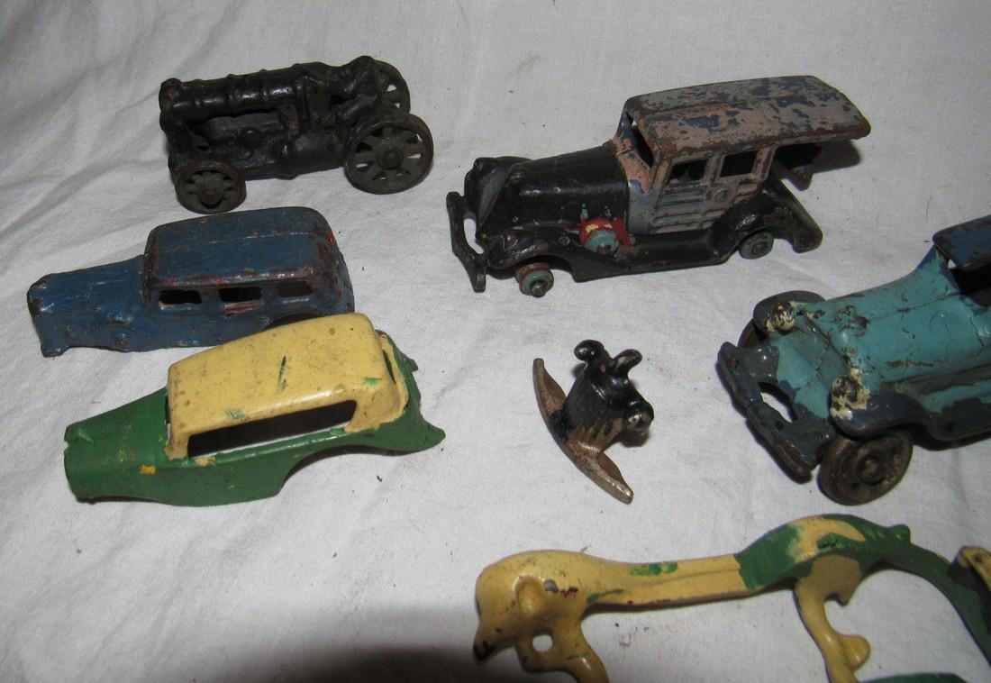 Antique Cast Iron Toy Junk Yard Car Parts - 3