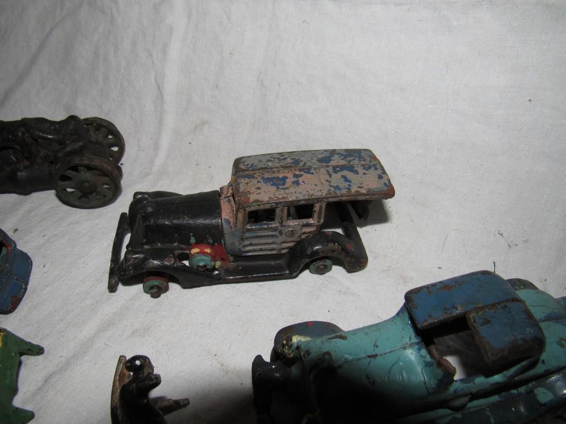Antique Cast Iron Toy Junk Yard Car Parts - 4