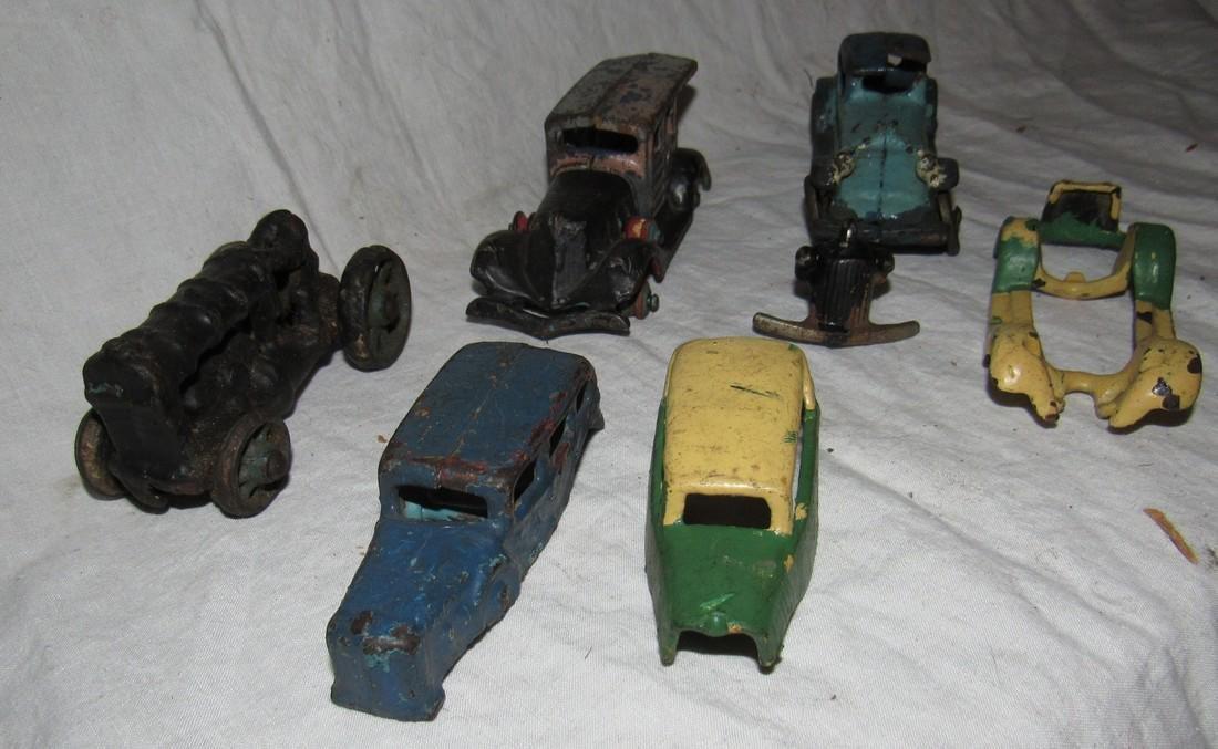 Antique Cast Iron Toy Junk Yard Car Parts - 5