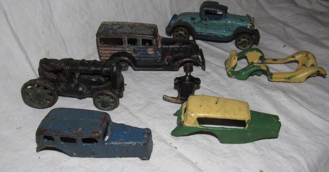 Antique Cast Iron Toy Junk Yard Car Parts - 6