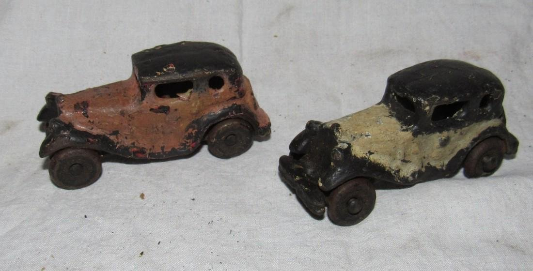 2 Antique Cast Iron Toy Cars