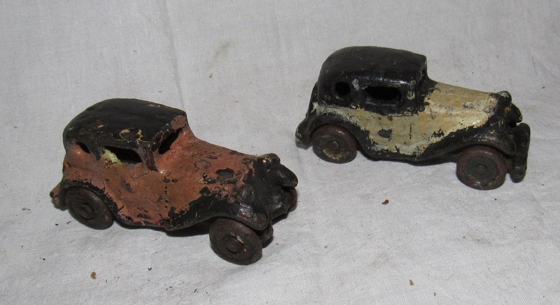 2 Antique Cast Iron Toy Cars - 2