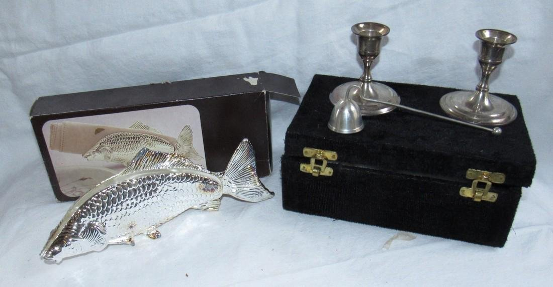 International Silver Co. Plates Candle Holders & Koi