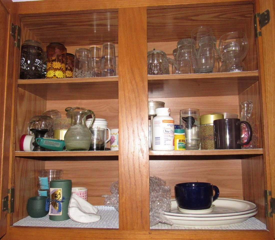 Contents of Kitchen Cabinets & Drawers