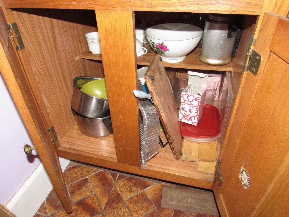 Contents of Kitchen Cabinets & Drawers - 3