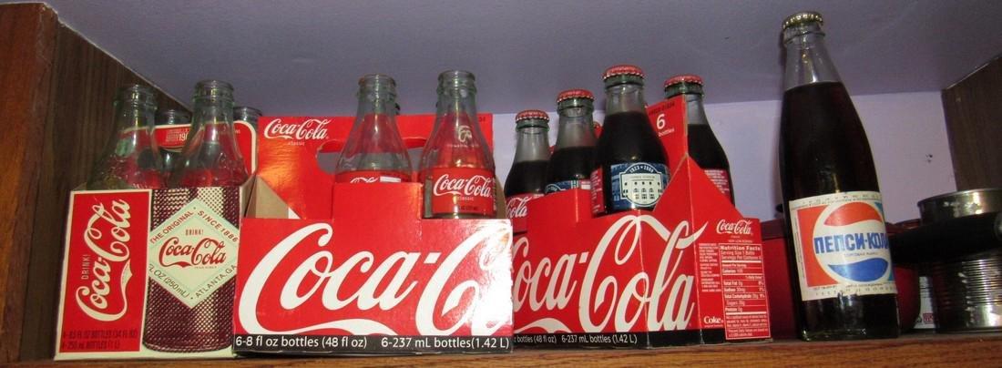 Shelf Lot Coca Cola & Pepsi Bottle