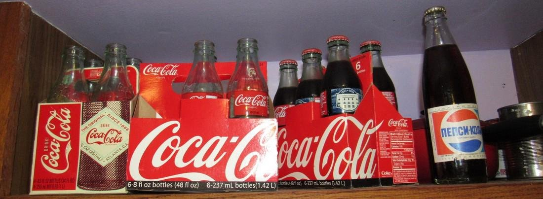 Shelf Lot Coca Cola & Pepsi Bottle