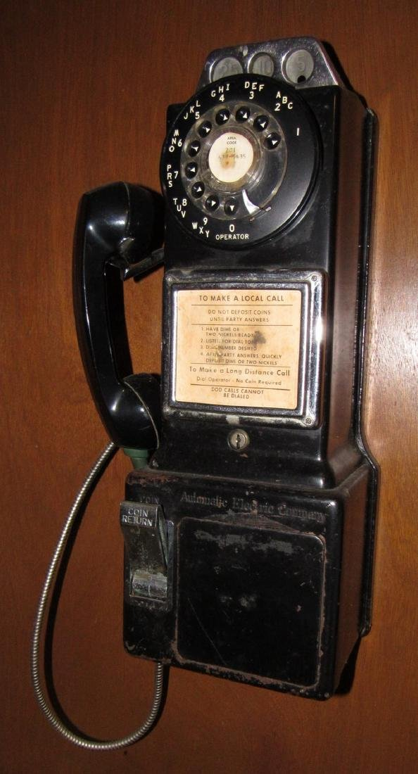 Automatic Electric Company Coin Op Telephone