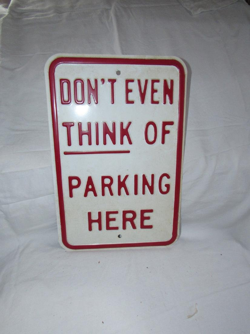 Metal Parking Sign