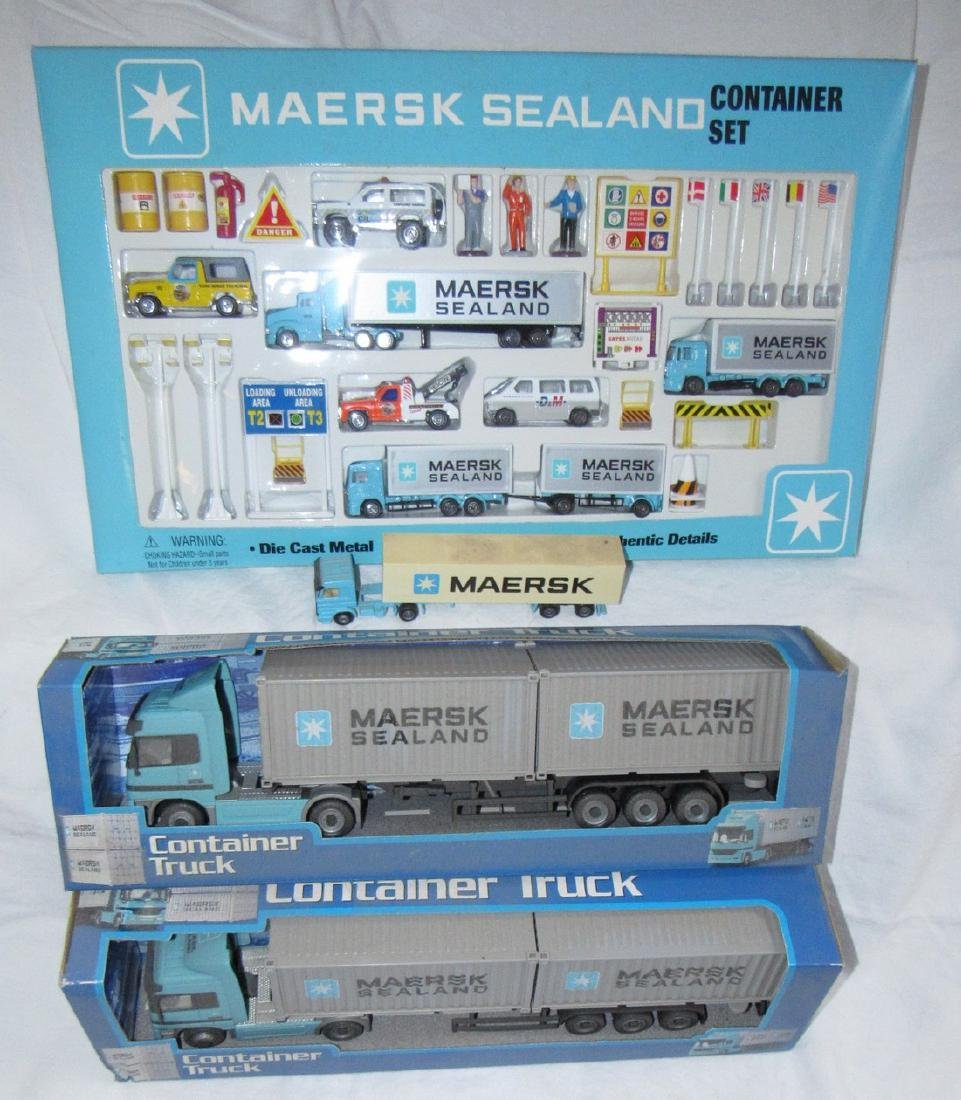 Maersk Sealand Container Die Cast Toy Lot - 4