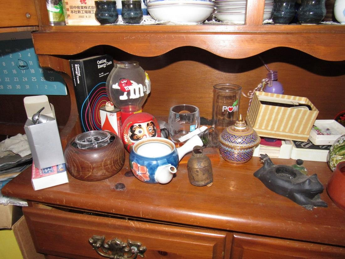 Oriental Dishes Glassware Hutch Top Contents - 6