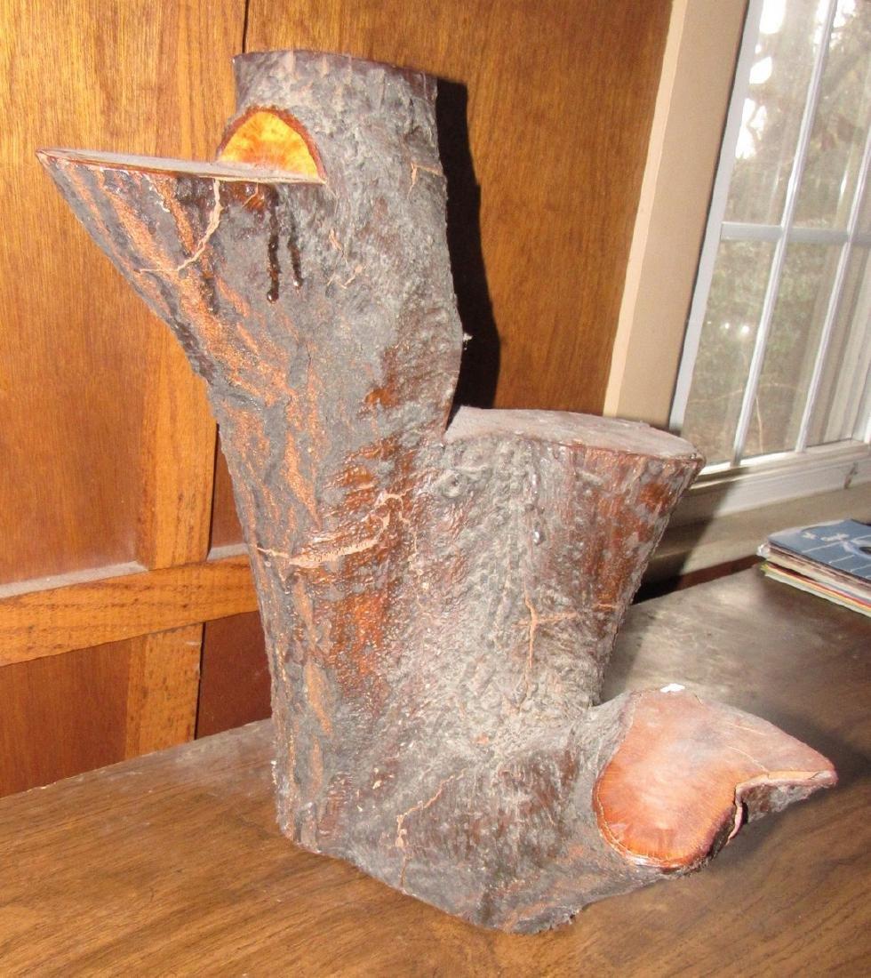 Stump Plant Stand Knick Knack Shelf - 3