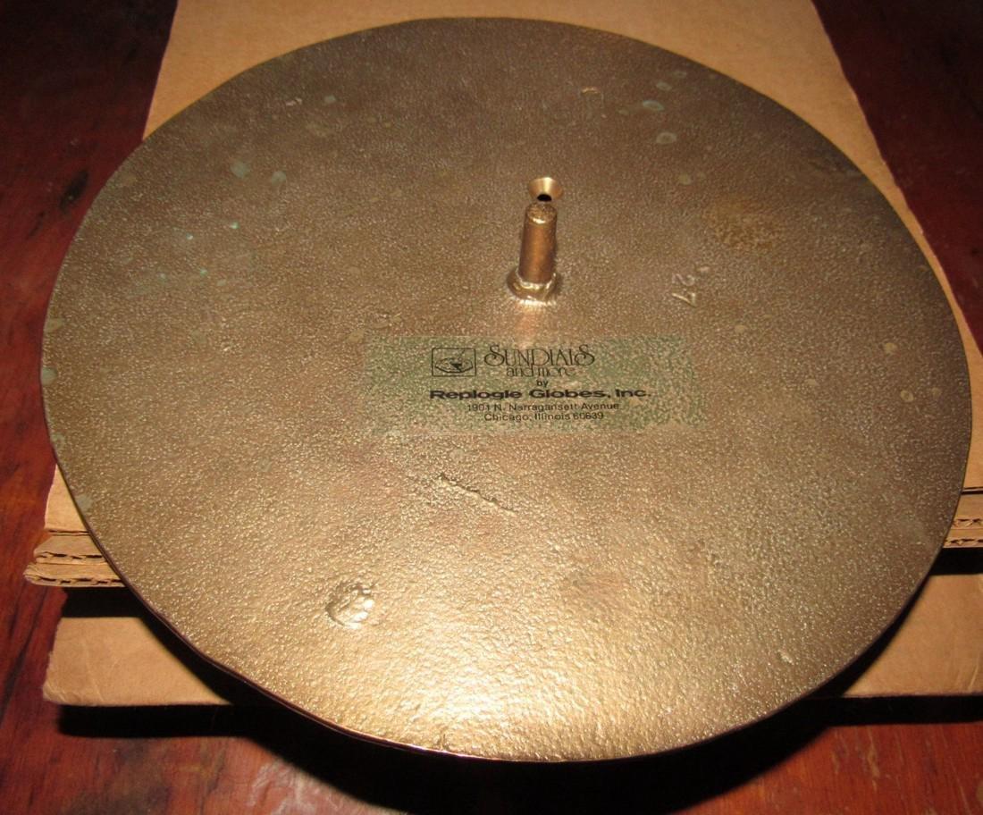 Brass Replogle Globes Sundial - 3