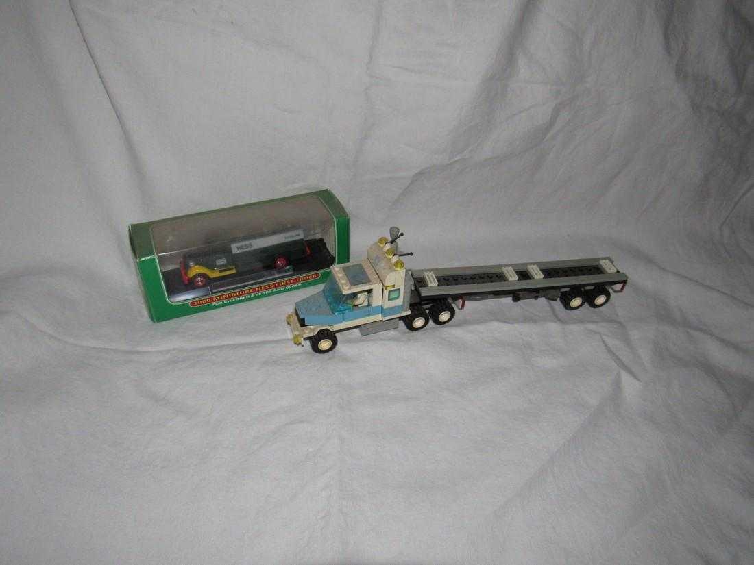 Vintage Lego Tractor Trailer Hess Truck