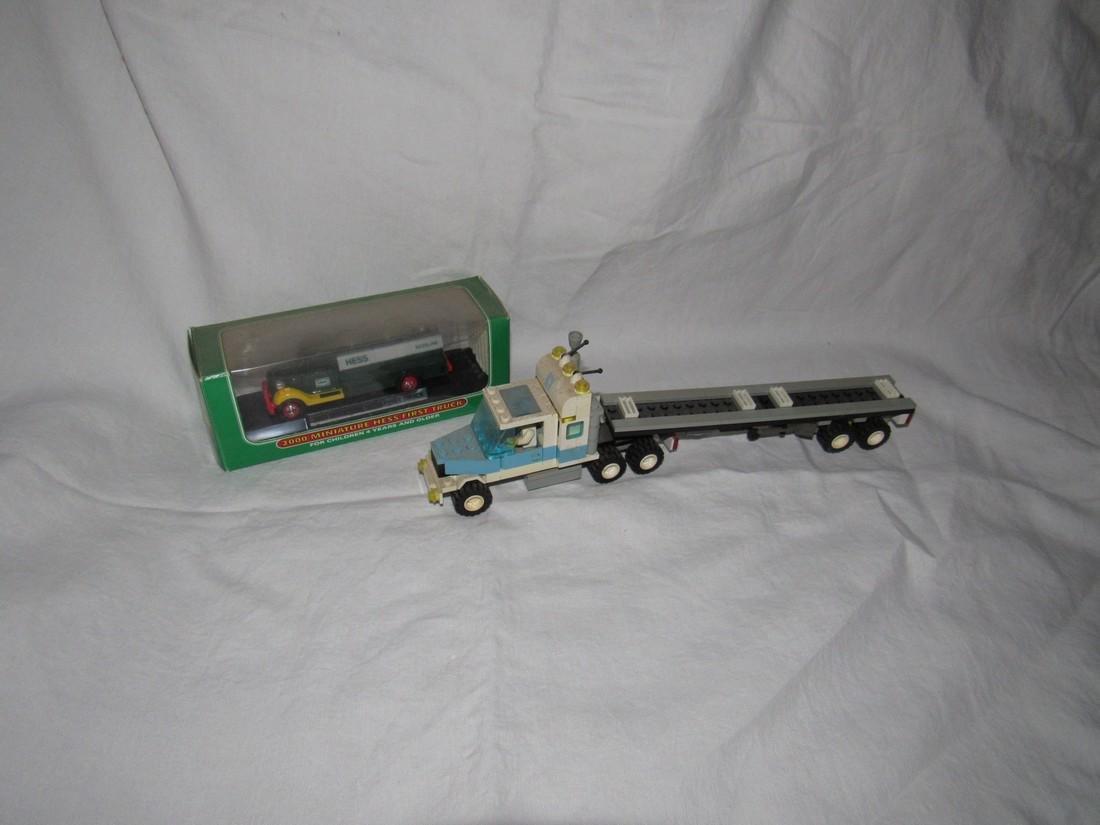 Vintage Lego Tractor Trailer & Hess Truck