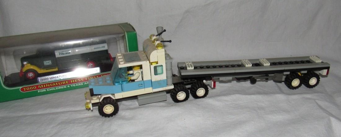 Vintage Lego Tractor Trailer & Hess Truck - 2