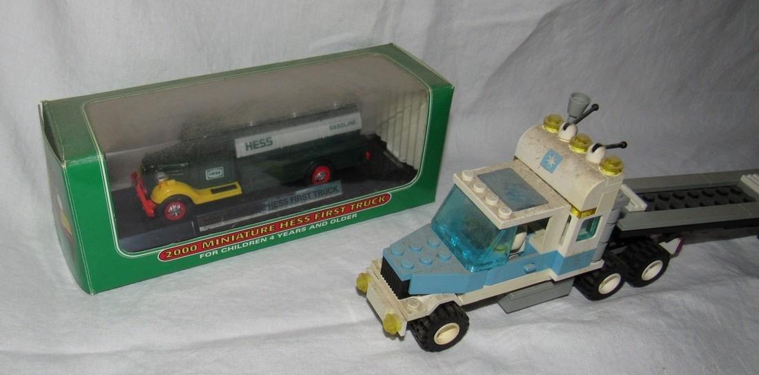 Vintage Lego Tractor Trailer & Hess Truck - 3