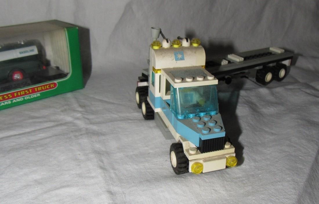 Vintage Lego Tractor Trailer & Hess Truck - 4