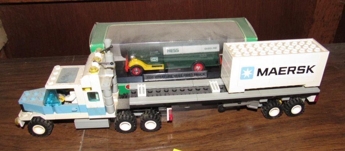 Vintage Lego Tractor Trailer & Hess Truck - 5