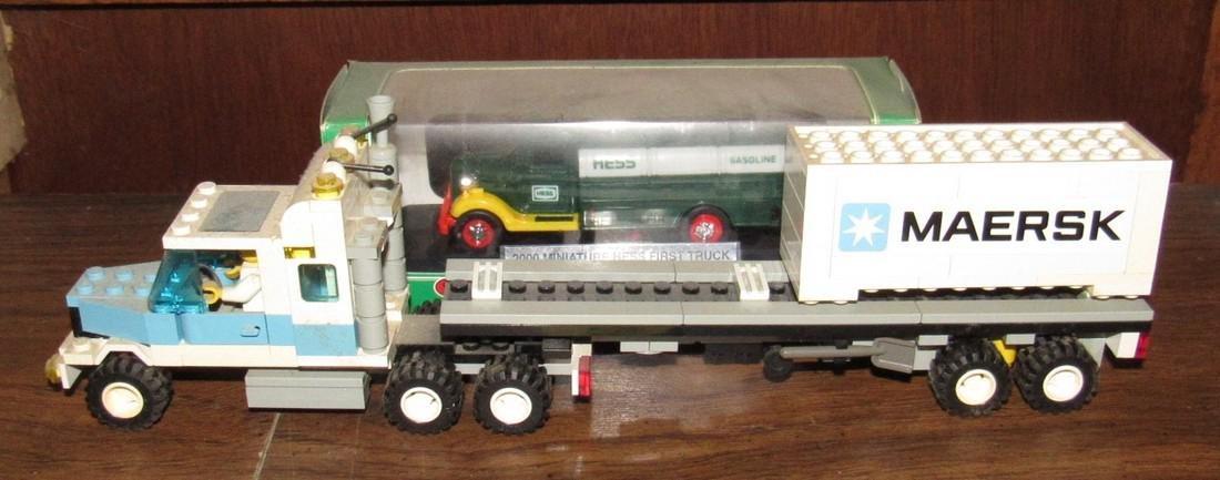 Vintage Lego Tractor Trailer & Hess Truck - 6