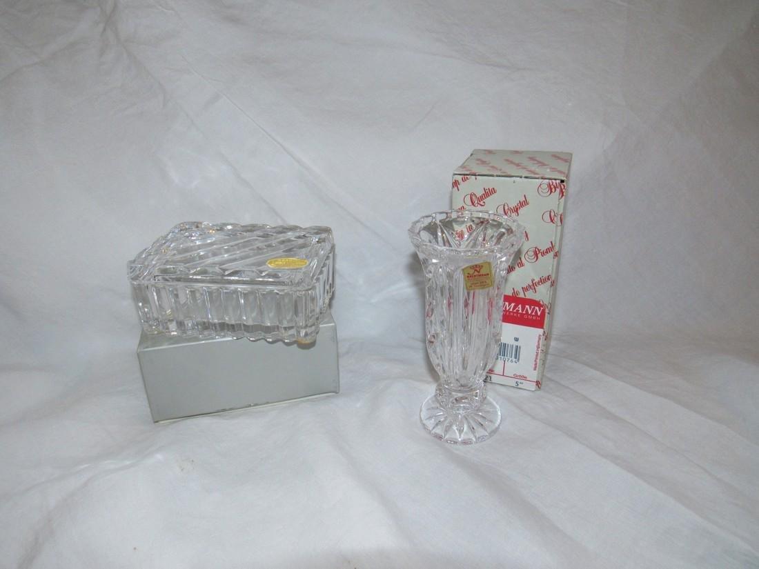 Nachtmann Crystal Vase & Lead Crystal Candy Dish