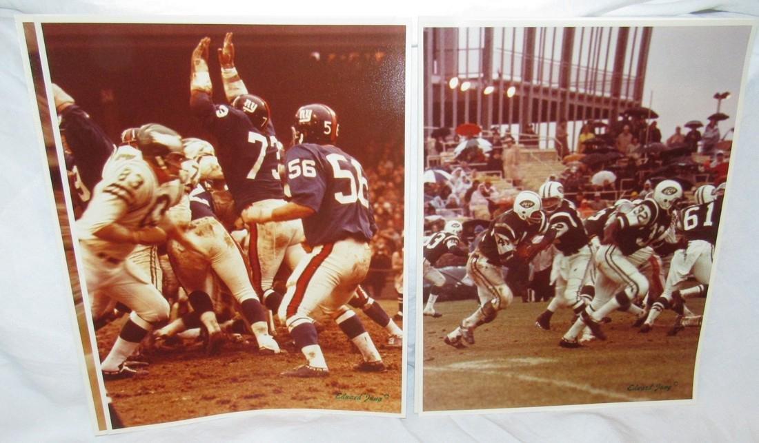 Vintage Giants Eagles Jets Edward Jung Photos - 2