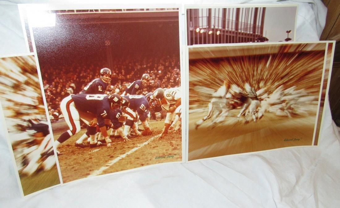 Vintage Giants Eagles Jets Edward Jung Photos - 4
