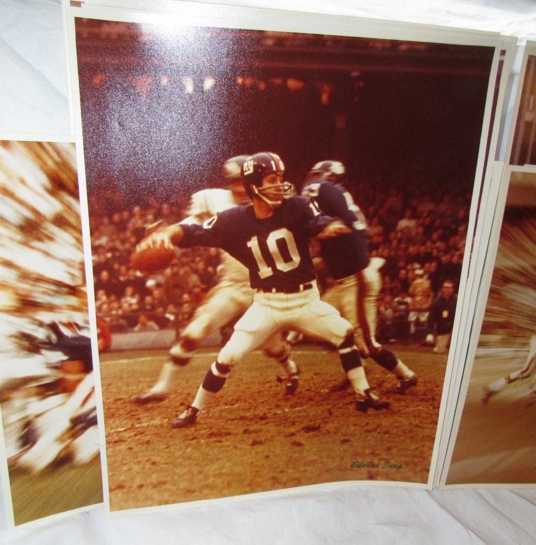 Vintage Giants Eagles Jets Edward Jung Photos - 5