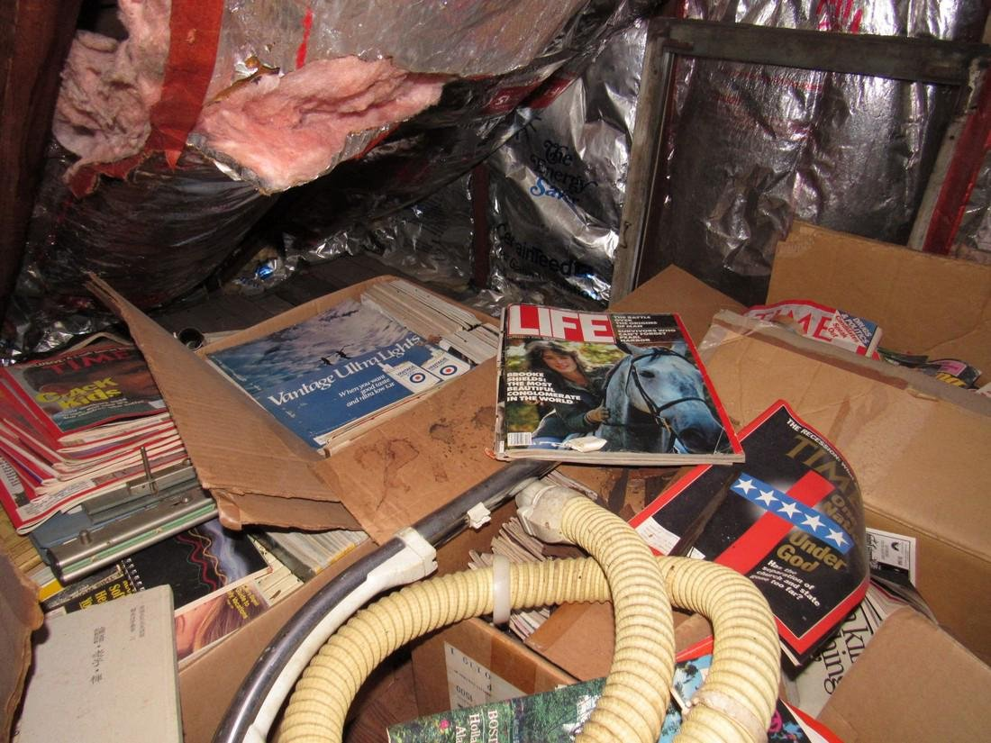 Attic Crawl Space Life Magazines & Misc - 3
