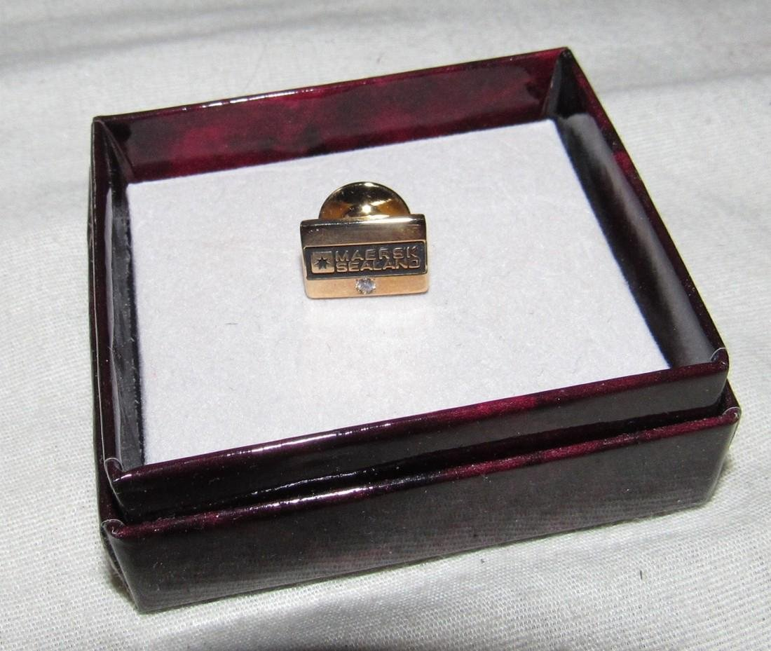 10K Gold Maersk Sealand Lapel Pin