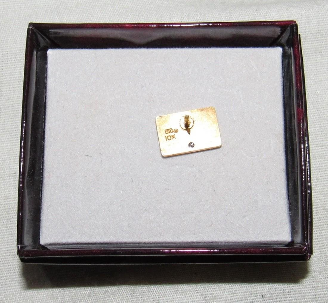 10K Gold Maersk Sealand Lapel Pin - 2