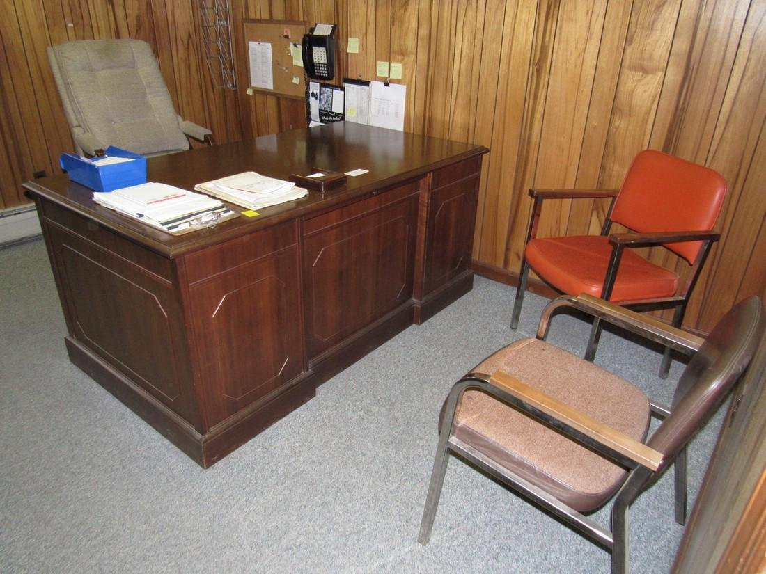 Office Desk Book Case Chairs
