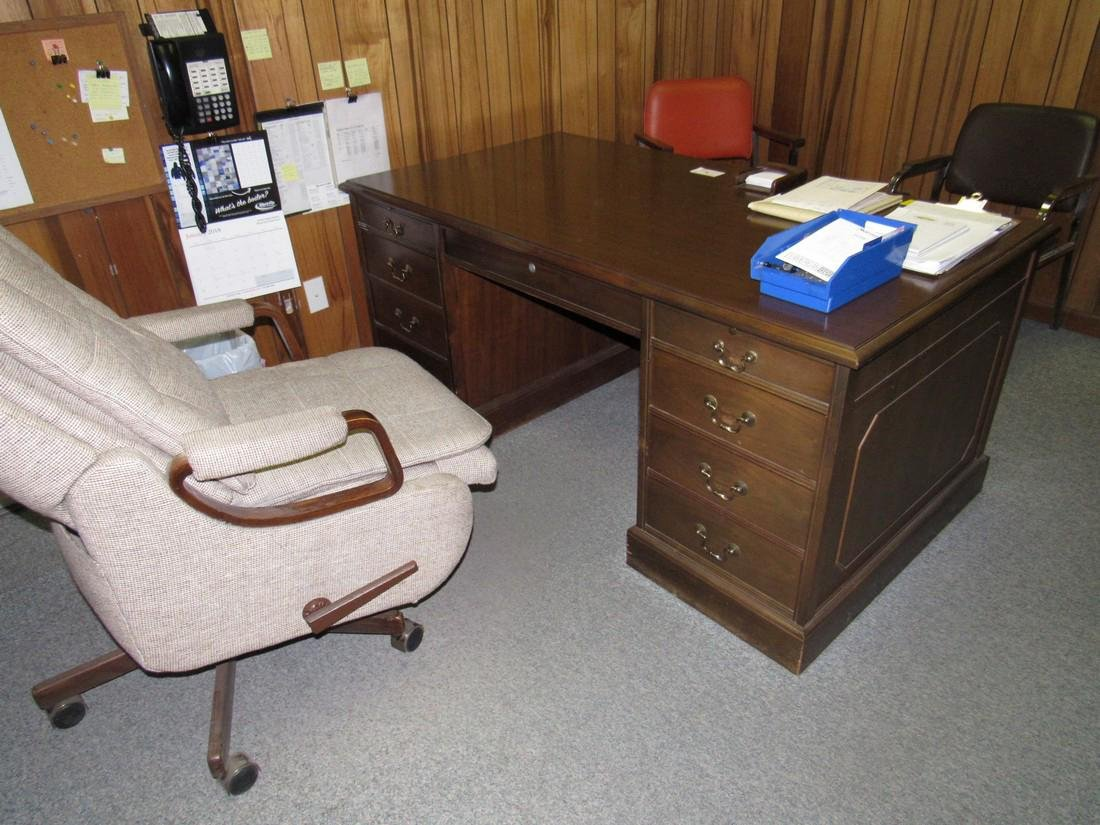 Office Desk Book Case Chairs - 3