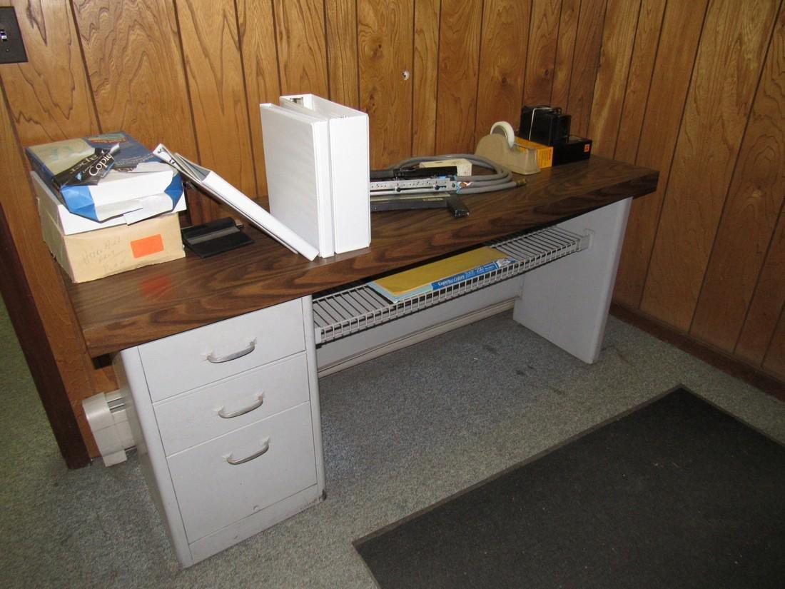 Desk & Contents