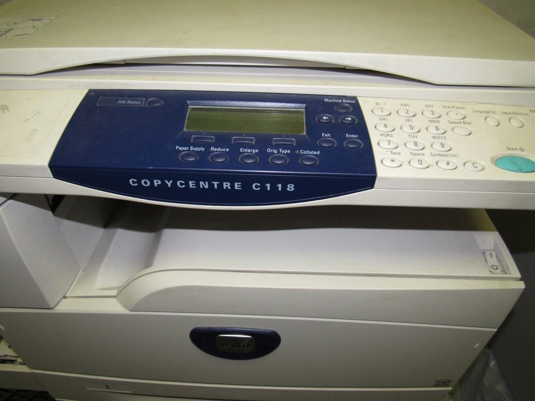 Xerox C118 Copycentre Printer & Cart - 3