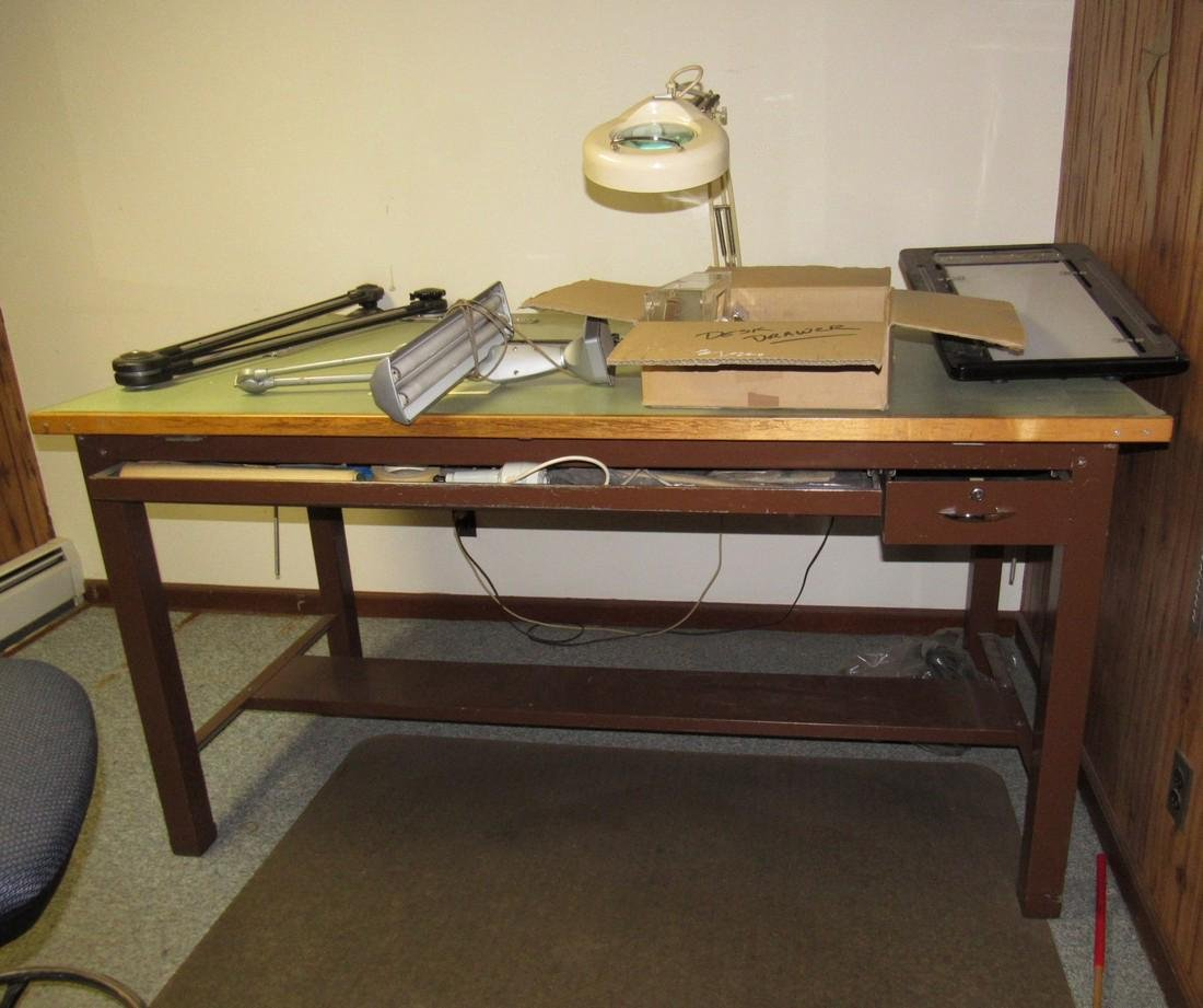 Drafting Table Lights & Chair - 2