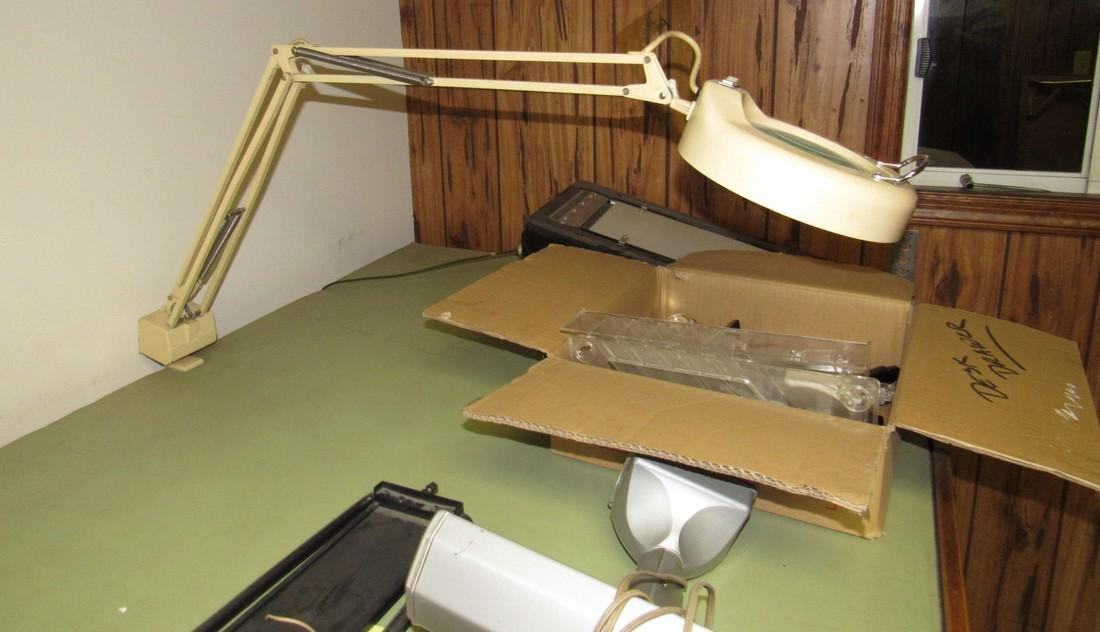 Drafting Table Lights & Chair - 5