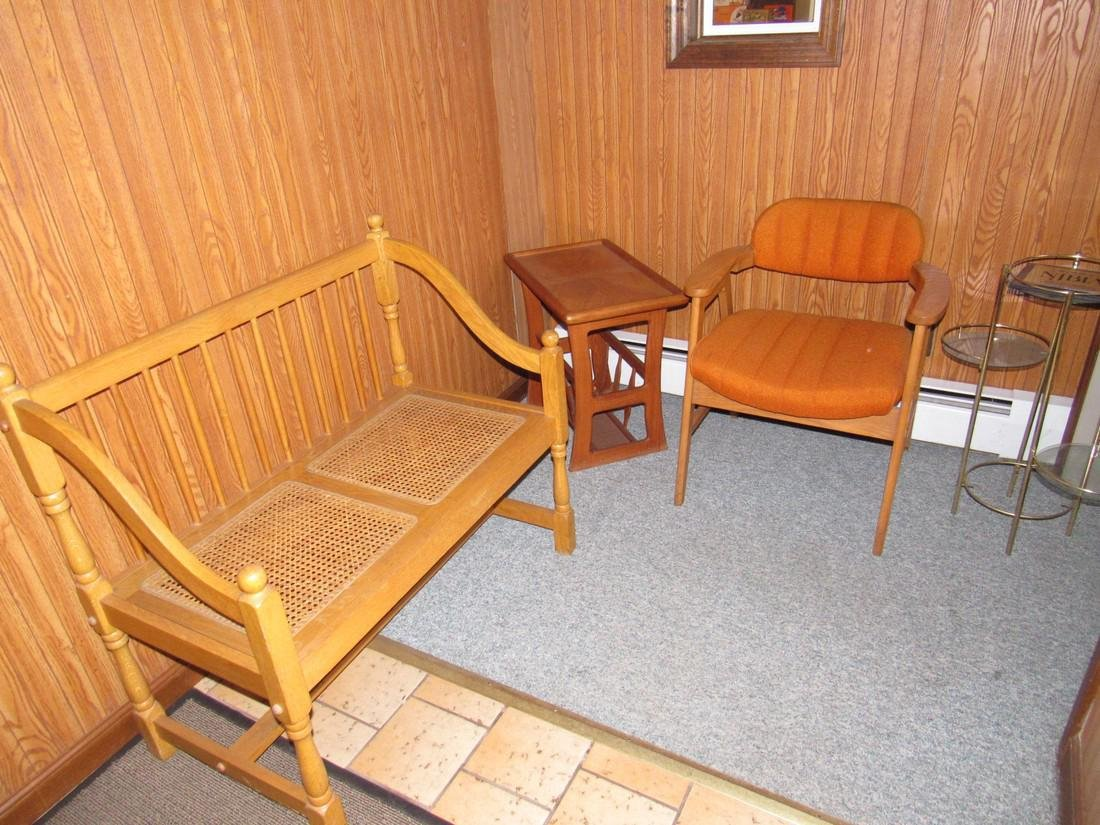 Bench Prints Plant Umbrella Stand Chair Table