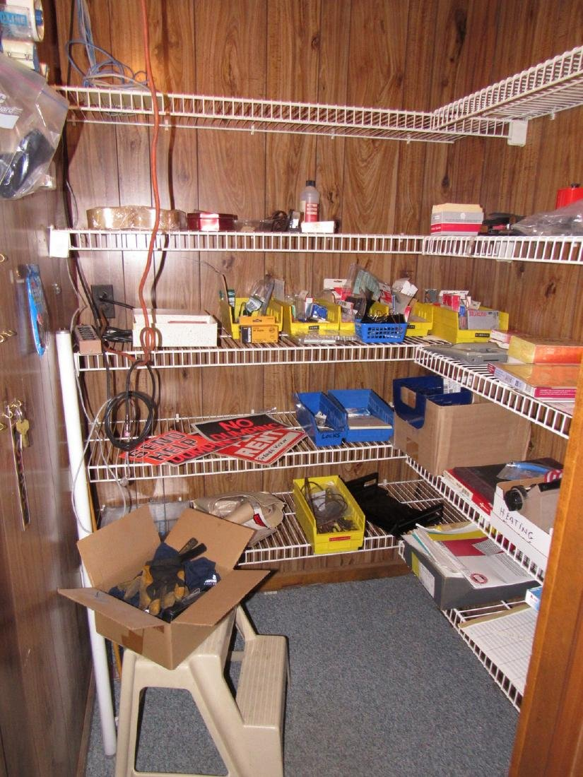 Parts Supplies Closet Contents