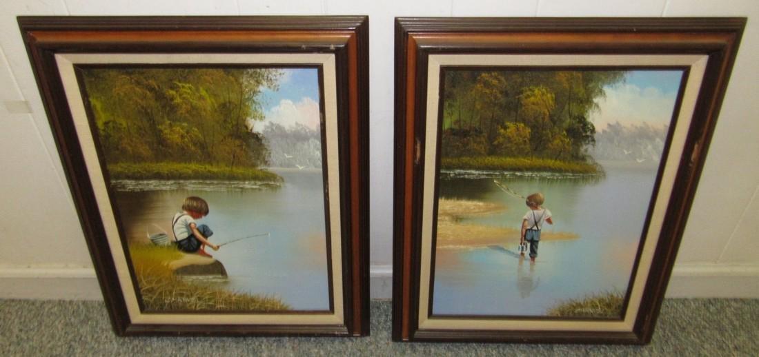 2 C. Manuel Oil Paintings