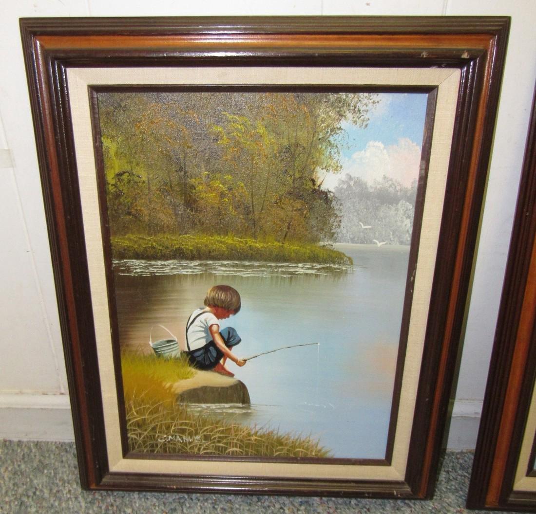 2 C. Manuel Oil Paintings - 2