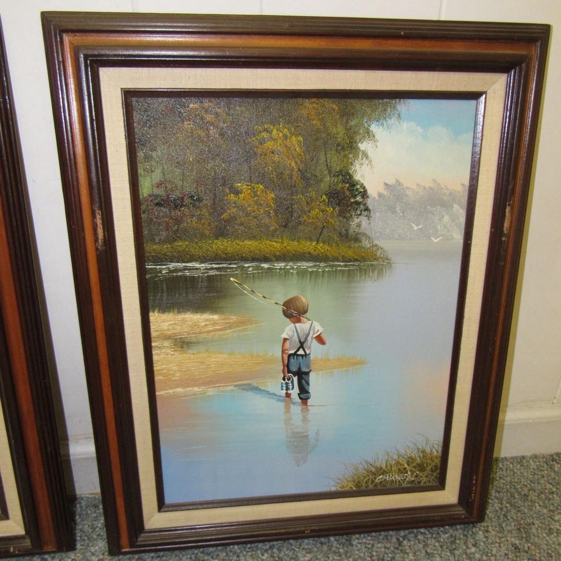 2 C. Manuel Oil Paintings - 3