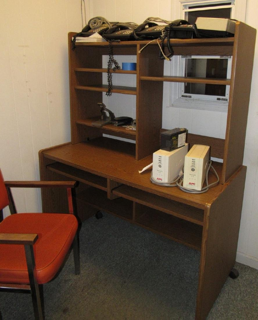 Desk Telephones APC Back Ups & 2 Chairs