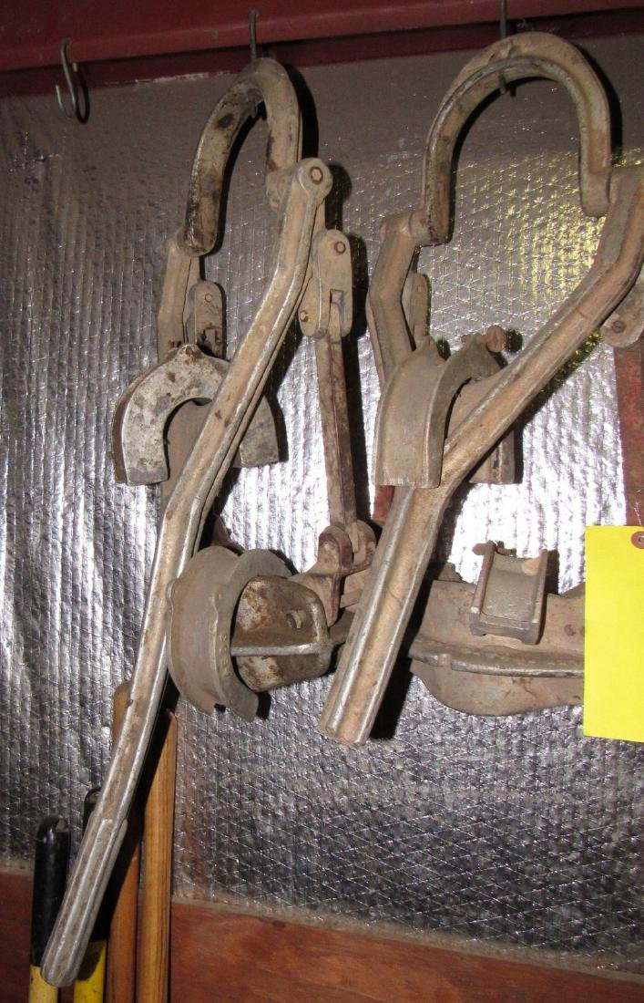 2 Aluminum Cast Iron Pipe Pullers - 2